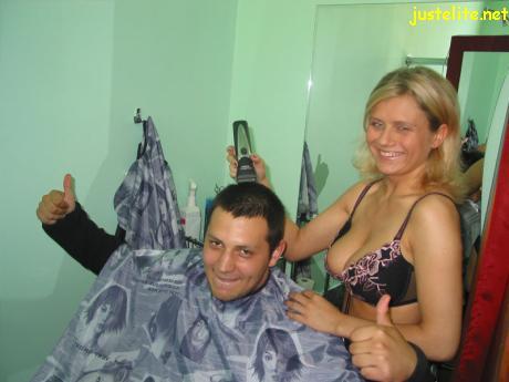 Sexy haircut salon