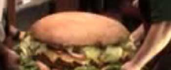 The world biggest burger