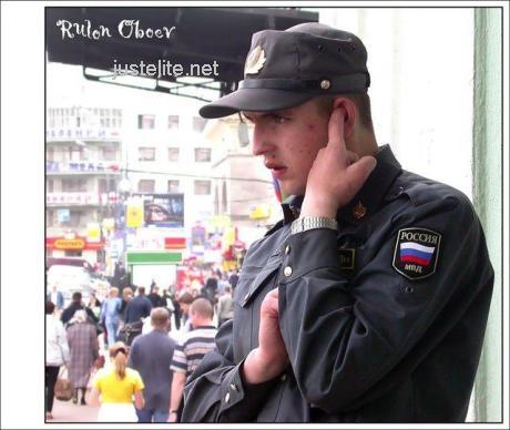 Russian policemen