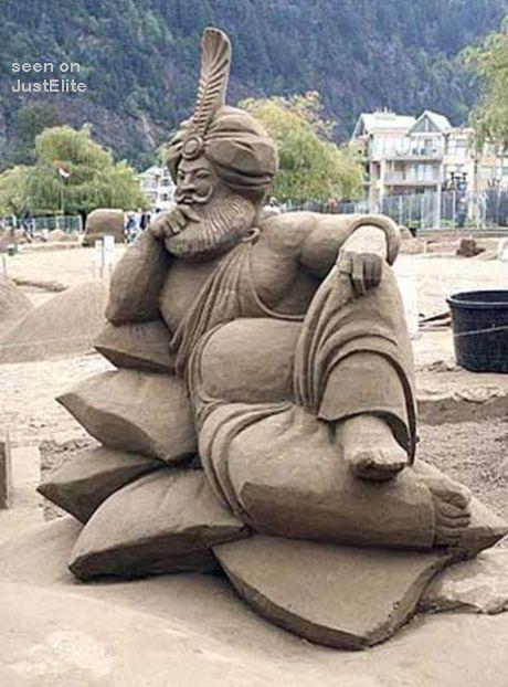 Sand castle contest