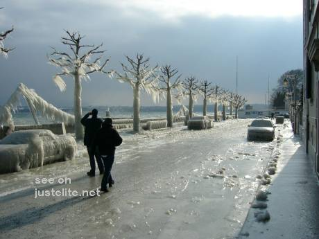 Ice storm in Switzerland