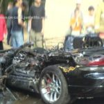 A car plate set a Dodge Viper on fire