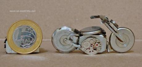 Bike made from clocks