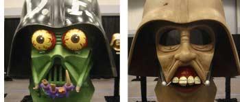 Painting on Darth Vader