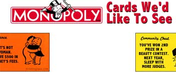 Monopoly cards on wish list