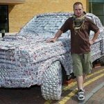 It is made From 5,000 Cans