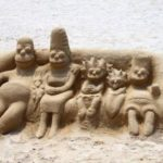 Simpsons in sand