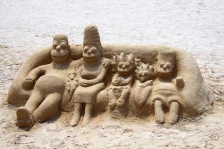 Simpson in sand