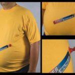 Cool t-shirt ad for health club