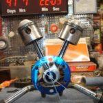 Wall Clock desk for Harley Davidson fans