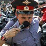 Policemen interview