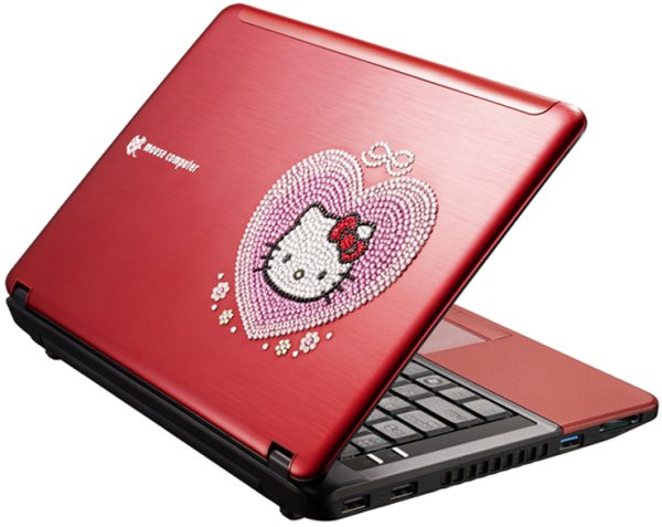 red hello kitty laptop