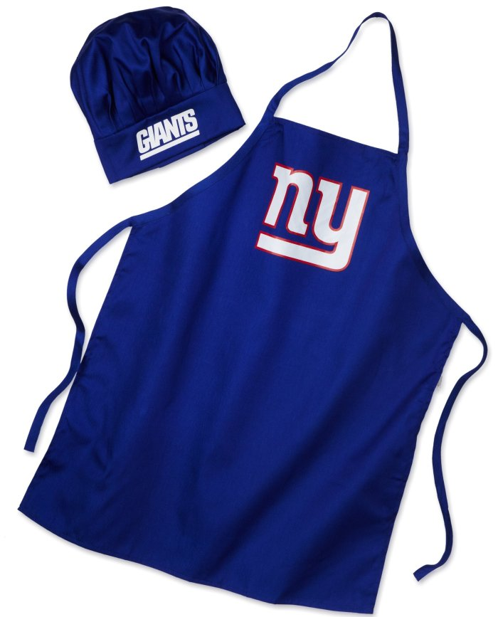 new york giants Chef Hat and Apron Set