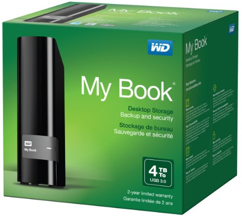 WD My Book 4TB USB 3 WDBFJK0040HBK-NESN