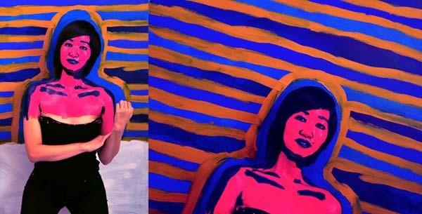 Alexa Meade paints-24
