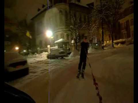 Urban skiing