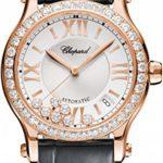 Chopard Happy Sport Round Ladies Rose Gold Diamond Automatic Swiss Made Watch 274808-5003