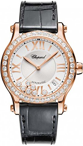 Chopard Happy Sport Round Ladies Rose Gold Diamond Automatic Swiss Made Watch 274808-5003